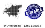 geographic collage of dot map... | Shutterstock .eps vector #1251125086