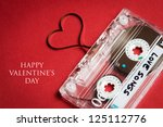 valentines day card   audio... | Shutterstock . vector #125112776