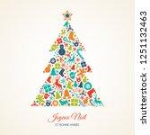 joyeux noel et bonne annee  ...   Shutterstock .eps vector #1251132463