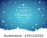 concept of christmas card with... | Shutterstock .eps vector #1251132523