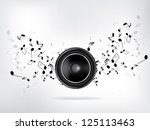 abstract music retro grunge... | Shutterstock .eps vector #125113463