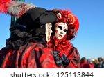 venice   march 5 unidentified... | Shutterstock . vector #125113844