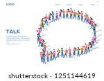 tech talk   businessmen discuss ... | Shutterstock .eps vector #1251144619