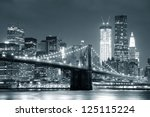 New York City Brooklyn Bridge...