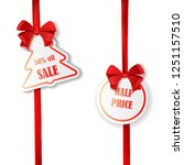set of new year or christmas... | Shutterstock .eps vector #1251157510