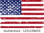 usa flag background.vector... | Shutterstock .eps vector #1251158653