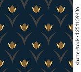 yellow tulips on a indigo... | Shutterstock .eps vector #1251159406