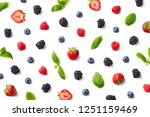 fruit pattern of colorful...   Shutterstock . vector #1251159469