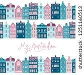 vector postcard illustration of ... | Shutterstock .eps vector #1251160513