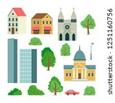 set of illustrations with... | Shutterstock .eps vector #1251160756