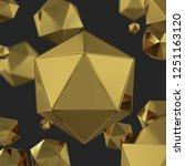 abstract golden polygonal... | Shutterstock . vector #1251163120