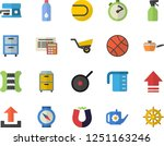 color flat icon set calculator... | Shutterstock .eps vector #1251163246