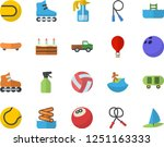 color flat icon set cake flat... | Shutterstock .eps vector #1251163333