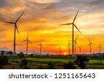 power generator wind turbines... | Shutterstock . vector #1251165643