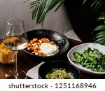 served table with healthy... | Shutterstock . vector #1251168946