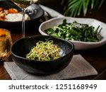 served table with healthy... | Shutterstock . vector #1251168949
