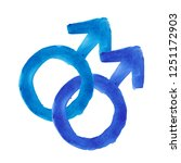 blue watercolor gay sign... | Shutterstock . vector #1251172903
