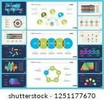set of statistics or strategy... | Shutterstock .eps vector #1251177670