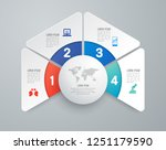 infographics design vector and... | Shutterstock .eps vector #1251179590