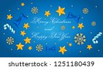 merry christmas and happy new... | Shutterstock .eps vector #1251180439