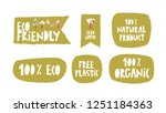 text sign  slogan design set on ... | Shutterstock .eps vector #1251184363