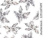 christmas hand drawn pattern...   Shutterstock . vector #1251187699