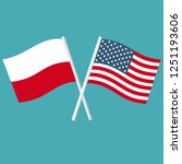 vector icon flags of america... | Shutterstock .eps vector #1251193606