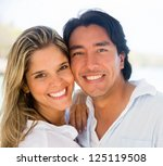 portrait of a happy couple... | Shutterstock . vector #125119508