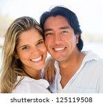 portrait of a happy couple... | Shutterstock . vector #125119508