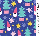 seamless christmas pattern.... | Shutterstock .eps vector #1251195463