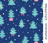 seamless christmas pattern.... | Shutterstock .eps vector #1251195466
