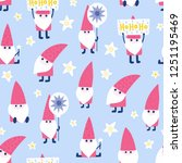 seamless christmas pattern.... | Shutterstock .eps vector #1251195469