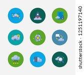 cloud technology icons set....