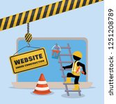 website under construction with ... | Shutterstock .eps vector #1251208789