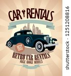 1930th   1970th retro car... | Shutterstock . vector #1251208816