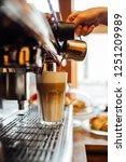 barista in cafe or coffee bar... | Shutterstock . vector #1251209989