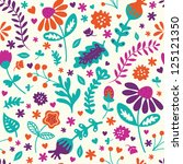 floral vintage seamless vector... | Shutterstock .eps vector #125121350