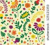 floral vintage seamless vector...   Shutterstock .eps vector #125121353