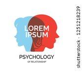 psychology family  mental... | Shutterstock .eps vector #1251218239