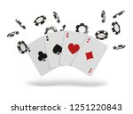playing cards and poker chips... | Shutterstock . vector #1251220843