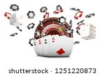 playing cards and poker chips... | Shutterstock . vector #1251220873
