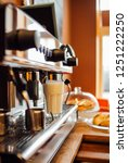 barista in cafe or coffee bar... | Shutterstock . vector #1251222250