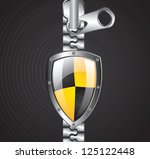 security icons with zipper and... | Shutterstock .eps vector #125122448