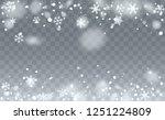 christmas snow flakes... | Shutterstock .eps vector #1251224809