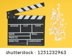 top view of clapperboard and... | Shutterstock . vector #1251232963