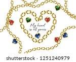 golden jewel chains seamless...   Shutterstock .eps vector #1251240979