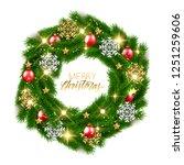 merry christmas fir tree... | Shutterstock .eps vector #1251259606