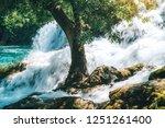 plitvice lakes of croatia  ...   Shutterstock . vector #1251261400