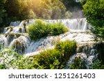 plitvice lakes of croatia  ...   Shutterstock . vector #1251261403