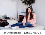beautiful caucasian woman in... | Shutterstock . vector #1251275776